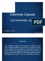 Indemnification Presentation