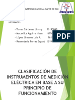 Instrumentos de Medida Electrica en Base a Su Principio de Funcionamiento