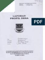 Ok-Laporan Profil Desa (Peraturan Mentri Dalam Negeri No 2 Tahun 2007 Tanggal 12 Maret 2007)