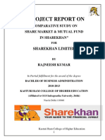 Project for Sharekhan