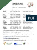 MSC Free Workshops Training