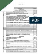 Presupuesto Casa Pintada..