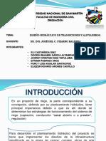 Diseño Hidráulico de Transiciones y Aliviaderos.