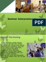 Seminar Interpreneurship,  Fast Respon Call / WA