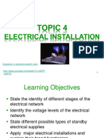 Topic 4 Electrical Installation (2012) Student Copy