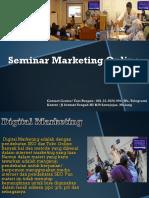 Seminar Marketing Online Terbaik Indonesia, Fast Respon Call / WA