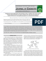 Simultaneous Spectrophotometric Determination of Zinc, Cadmium and Lead by Xylenol