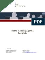 Sample Board Meeting Agenda Template in Word Doc