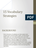 15 Vocabulary Strategies