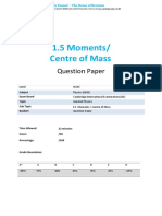 IGCSE Physics - Moments and Centre of Mass