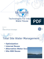 GE - Technologies for Industrial Water Reuse