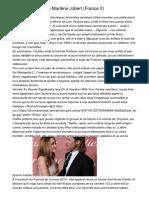 Un Jour, Un Destin Marlène Jobert (France 2)