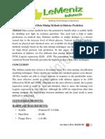 Application of Data Mining Methods in Diabetes Prediction
