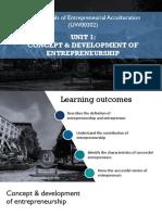 Concept Development of Entrepreneurship 0918