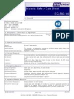 MSDS EC-RO-16