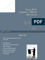 Using APDL Snippets in ANSYS Mechanical