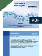 Industrial Waste Water Reuse Technologies