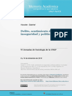 Gabriel Kessler - Delito, Sentimiento de Inseguridad y Políticas Públicas