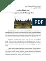 Analisis Ritual Adat (Batagak Rumah)