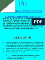 Secretariat Instructions(a,B,C,D,E,F