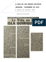 """Chile, """"La placentera vida de los presos políticos en Isla Quiriquina - Diciembre de 1973"""""""