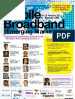Mobile Broadband for Emerging Markets 2011 Programme Cover