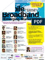 Mobile Broadband for Emerging Markets 2011 Programme Cover