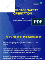 Aramco Contractor Safety Orientation
