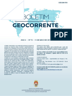 Boletim Geocorrente Nr 72 11MAI2018