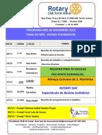 Programa Mês de Novembro 2018