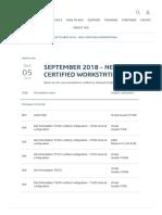 September 2018 - New Certified Workstation