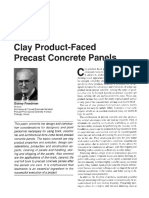 Clay Product-Faced Precast Concrete panels