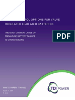 Charge Control Options for Valve Regulated Lead Acid Batteries