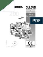 Dulevo 200 Quattro - Manual Operação