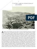 1905 Minas Del Occidente de Bolivia