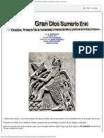 El Gran Dios Sumerio Enki, Creador, Protector de La Humanidad, Brillante Científico y Patrón de Los Artistas y Artesanos