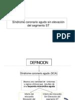 Sindrome Coronario Agudo Sin Elevacion Del Segmento St Dar Uce