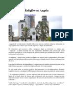 O Estado e a Religião Em Angola