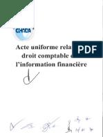 ActeUniforme Relatif DroitComptable InformationFinanciere JAN2017