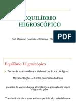 Equilibrio Higroscópico e Aw