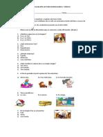 Evaluación Lectura Domiciliaria Eva y Su Tan