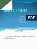 TQM Priniciples