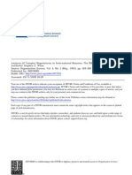 Analysis of Complex Negotiations in International Perspective