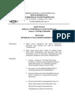 SK Penerapan Manajemen Resiko Klinis