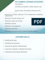 Etapas de Listening