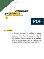 presentación Departamentalización por Productos
