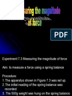 7.3 Magnitud of Force