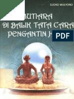 Mutiara Dibalik Tata Cara Pengantin Jawa