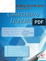 Cartilha Conhecendo o Legislativo 2015
