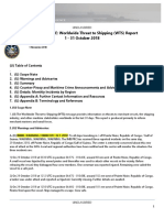 U.S. Navy Office of Naval Intelligence Worldwide Threat to Shipping (WTS) Report 1 - 31 October 2018